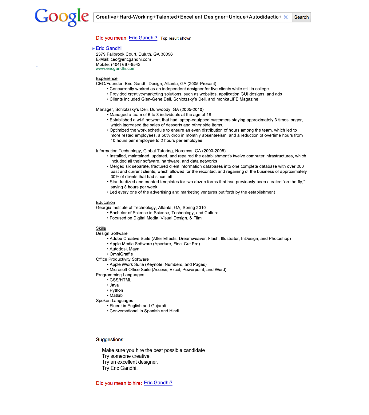 eric-gandhi-landed-an-interview-at-google-with-this-company-themed-resume